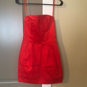 French Connection Size 0 Red Strapless Dress